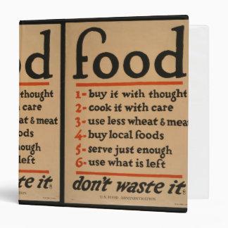 Food, Don't Waste It - Vintage War Poster Binders