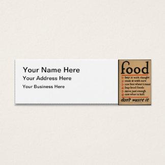 Food, Don't Waste It - Vintage War Poster Mini Business Card