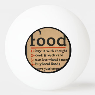 Food, Don't Waste It - Vintage War Poster Ping Pong Ball