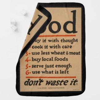 Food, Don't Waste It - Vintage War Poster Swaddle Blanket
