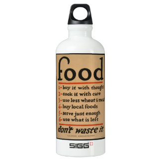 Food, Don't Waste It - Vintage War Poster Water Bottle