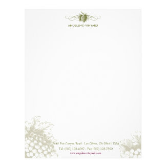 Food & Drink feat. Grapes Letterhead