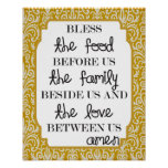 Food, Family, Love...Amen Posters