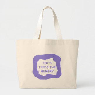 Food feeds the hungry .png canvas bag