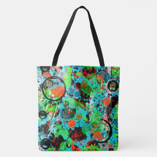 Food Fight Abstract Tote Bag