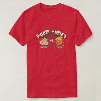 Food Fight! Dumplings vs. French Fries Funny Pun T-Shirt