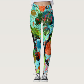 Food Fight Graffiti Abstract Leggings