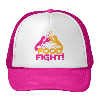 food fight! lobsters crayfish mesh hats