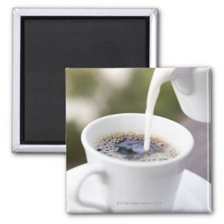 Food, Food And Drink, Coffee, Cream, Creamer, Square Magnet