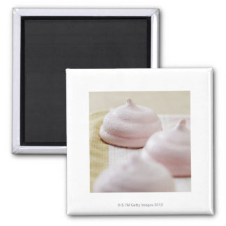 Food, Food And Drink, Strawberry, Merengue, Square Magnet