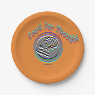 Food for Thought Paper Plate
