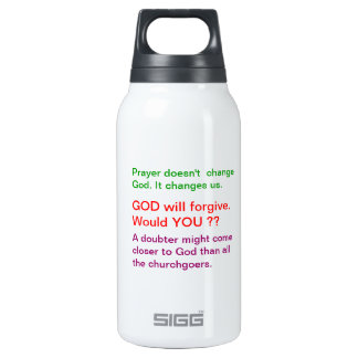 Food for thought : Practical Wisdom Words Insulated Water Bottle