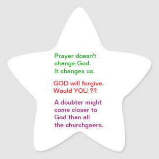 Food for thought : Practical Wisdom Words Star Sticker