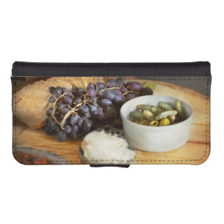 Food - Fruit - Gherkins and Grapes iPhone SE/5/5s Wallet Case