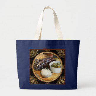 Food - Fruit - Gherkins and Grapes Large Tote Bag