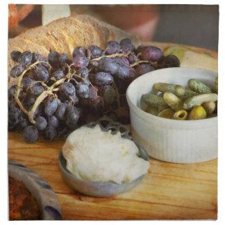 Food - Fruit - Gherkins and Grapes Napkin