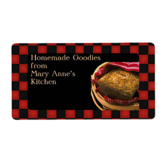 Food Gift From Your  Kitchen Personalized Custom Shipping Label