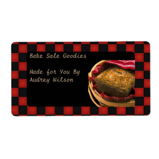 Food Gift From Your Personalized Kitchen Shipping Label