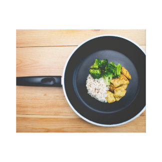 Food in a Pan Canvas Print