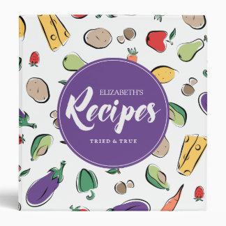 Food Ingredient Doodles | Recipes 3 Ring Binders