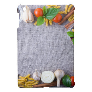 Food ingredients are installed as a frame iPad mini cover