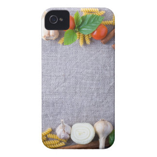 Food ingredients are installed as a frame iPhone 4 Case-Mate case