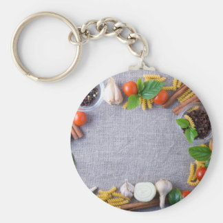 Food ingredients are installed as a frame keychain