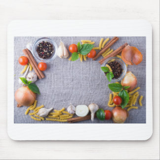 Food ingredients are installed as a frame mouse pad