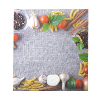 Food ingredients are installed as a frame notepads