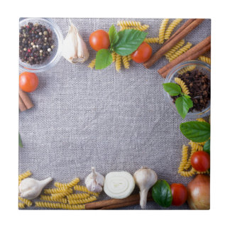 Food ingredients are installed as a frame tile