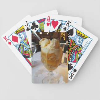 Food Lovers Peach Sundae Poker Deck