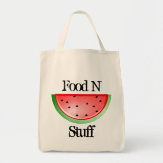 Food n Stuff, Cute Watermelon Grocery Tote Bag