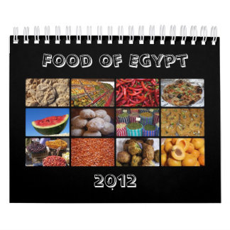 Food of Egypt 2012 Calendar