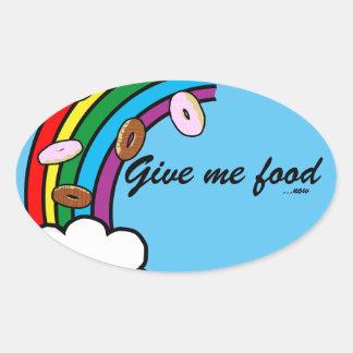 Food Oval Sticker