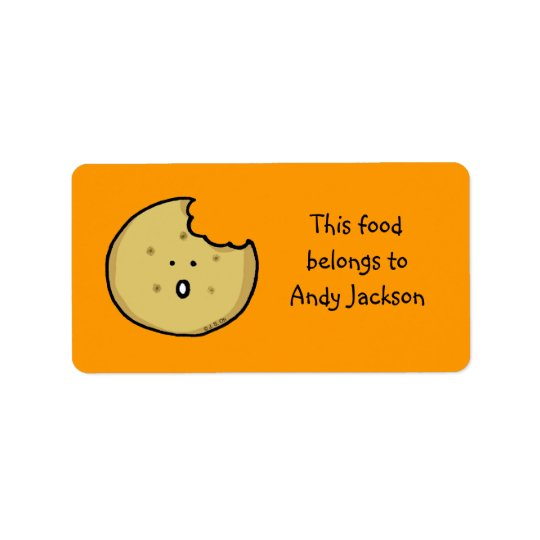 Food owner labels (cute cookie)