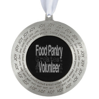 Food Pantry Volunteer Extraordinaire Pewter Ornament