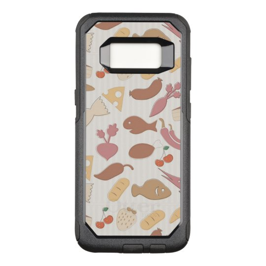 Food Pattern 2 2 OtterBox Commuter Samsung Galaxy S8 Case