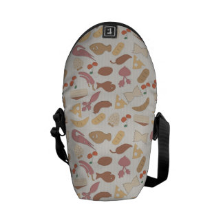 Food Pattern 2 Commuter Bags