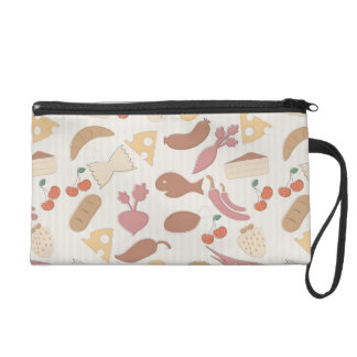 Food Pattern 2 Wristlet Clutch