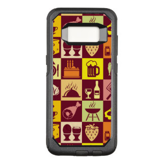 Food Pattern 4 OtterBox Commuter Samsung Galaxy S8 Case