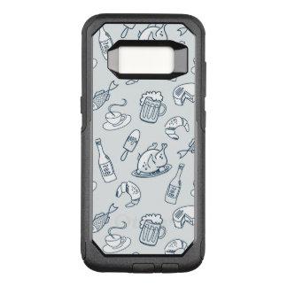Food Pattern OtterBox Commuter Samsung Galaxy S8 Case
