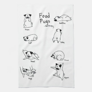 Food Pugs Kitchen Towel
