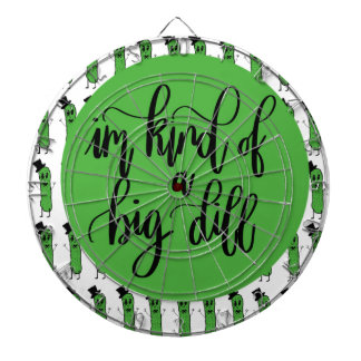 "Food pun ""IM KIND OF A BIG DILL"" Dartboard"