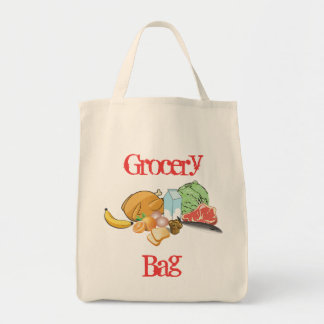Food Reusable Grocery Tote Bag