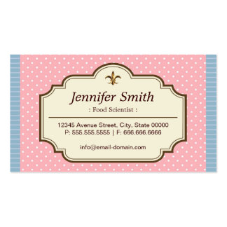 Food Scientist - Cute Polka Dots Pack Of Standard Business Cards