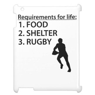 Food Shelter Rugby iPad Cases