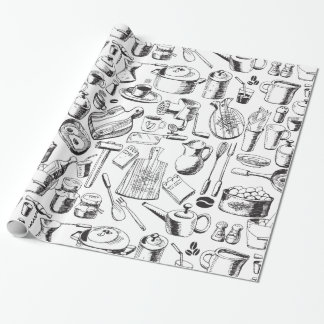 Food Sketch Wrapping Paper