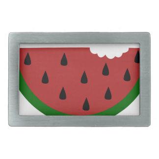food slice fruit bitten watermelon belt buckle