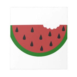 food slice fruit bitten watermelon notepad