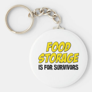 Food Storage is For Survivors Basic Round Button Keychain